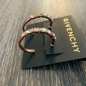 Givenchy gold hoop earrings - never worn!